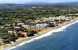 Platanias from the air