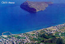 The island opposite Platanias
