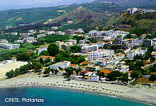 Platanias from air view